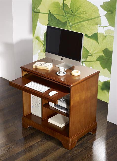petit bureau informatique en merisier de style louis philippe meuble en merisier massif
