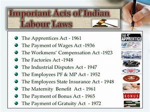 """PPT on """"Labour Laws in India"""""""