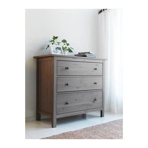 hemnes 3 drawer chest ikea solid wood a hardwearing material roomy drawers