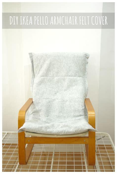 diy ikea pello poang chair felt cover mono and co