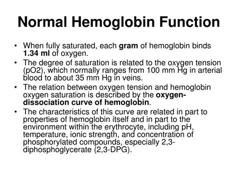 ppt hemoglobin synthesis structure function powerpoint presentation id 315600