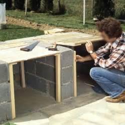 merveilleux couler une dalle beton exterieur 9 barbecue en briques de parement mont233es sur