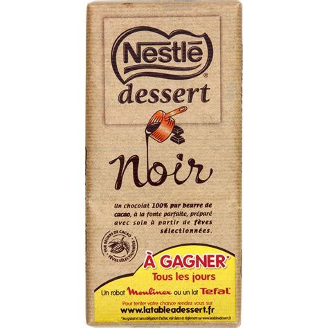 chocolat noir nestl 233 dessert nestl 233 dessert la tablette de 205 g vos courses en ligne avec