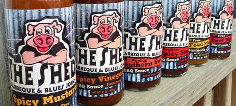 the shed bbq sauce spicy mustard spicy vinegar hotsaucedaily