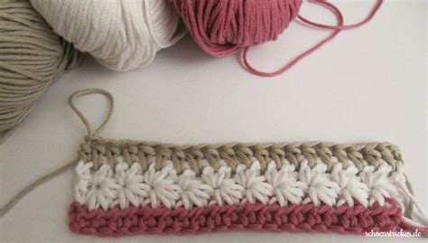 Schoenstrickende  Crochet Along Babydecke Größer Häkeln