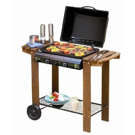 barbecue a gaz sur de lave chariot en bois achat vente barbecue barbecue a gaz