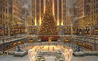 Kitchen Storage Cabinets At Walmart by Rockefeller Center Christmas Tree Wallpaper Christmas