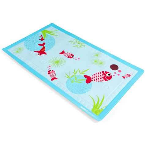 tapis de bain aquarium bleu de aubert concept accessoires de bain aubert