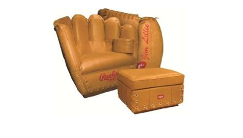 akamii rawlings 174 baseball of the hide glove leather chair and ottoman m16101