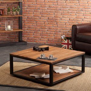table basse carr 233 e metal et bois cr 233 ation metals and tables