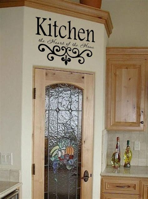 Kitchen Wall Quote Vinyl Decal Lettering Decor Sticky  Ebay