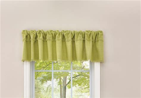 French Country Curtain Ruffled Crawford Aloe Kitchen Window Valance 180x35cm New Curtains In Indian Style Black French Door White Curtain Brackets Lights For Sale Panel Length 60 Inch Drop Under Sink Kitchen Shower Bling