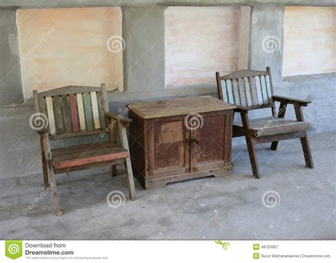 chaises de tableau et de style ancien photo stock image