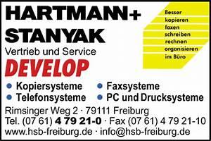 Hartmann Einrichtungen Freiburg : hartmann stanyak b rosysteme gmbh z hd herr lickert 79111 freiburg st georgen ~ Markanthonyermac.com Haus und Dekorationen