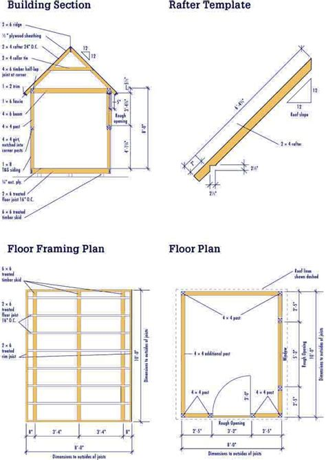 storage shed blueprints for a 8 215 10 storage shed