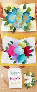 Pop Up Flowers DIY Printable Mother's Day Card - A Piece ...