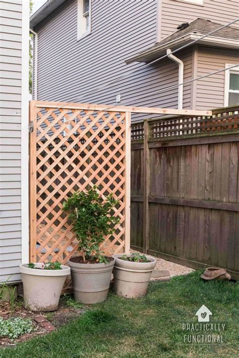 Build A Simple Diy Trellis Screen To Hide Ugly Areas In