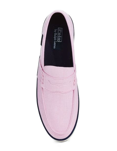 Pink Boat Shoes For Men by Polo Ralph Lauren Evan Boat Shoes In Pink For Men Lyst