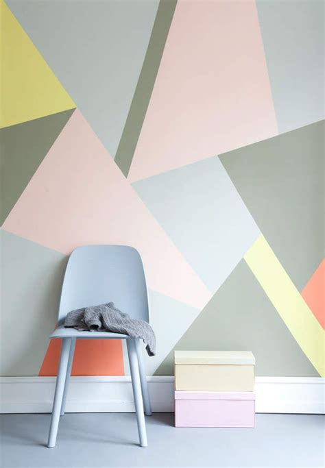 les 25 meilleures id 233 es concernant mur g 233 om 233 trique sur peinture de chambre 224 coucher