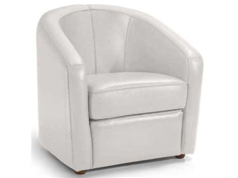 fauteuil en cuir novi coloris blanc conforama