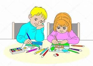 Kinder Bilder Malen : kinder malen stockfoto 1 2 3 52259327 ~ Markanthonyermac.com Haus und Dekorationen