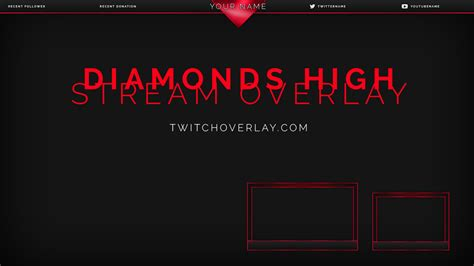 Twitch Notification Images Template Psd by Free Stream Overlays Graphics
