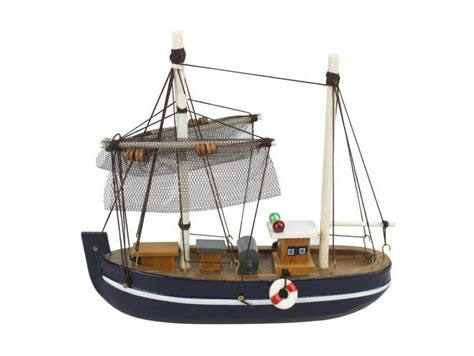 Small Toy Fishing Boats by Wooden Fine Catch Model Fishing Boat 6 Quot