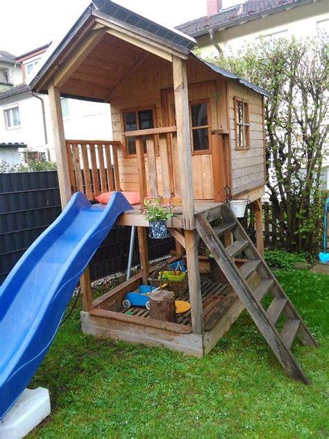 Kletterhaus, Kindergartenhaus Holz Mit Rutsche In