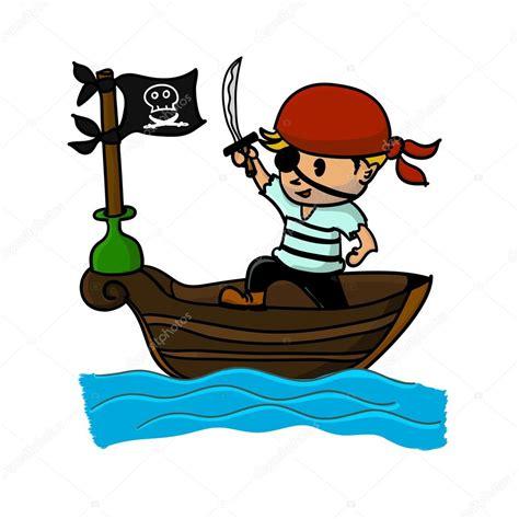 Dessin Animé Bateau Pirate pirate dessin anim 233 sur bateau image vectorielle