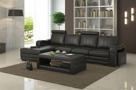 canap 233 d angle en cuir italien 5 places romana noir mobilier priv 233