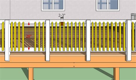 deck balusters spacing deck design and ideas