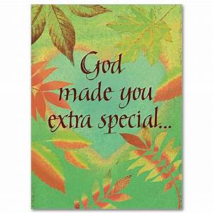 God Made You Extra Special: Birthday Card