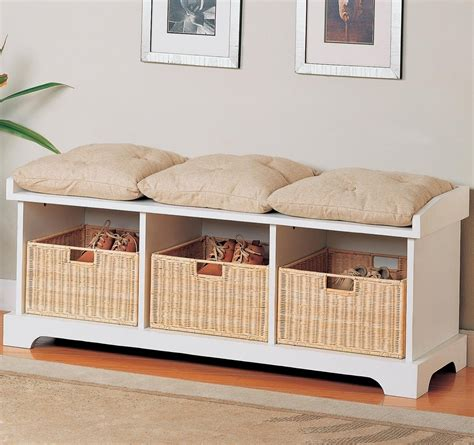 Cushioned Seating Storage Bench