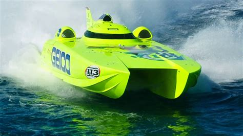 Boat Racing Videos by Miss Geico 213mph World Chion Offshore Turbine Boat On