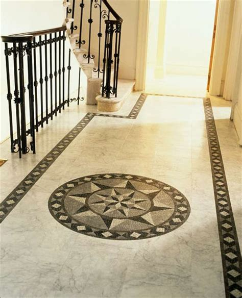 foyers entry flooring idea medici mosaic motif by