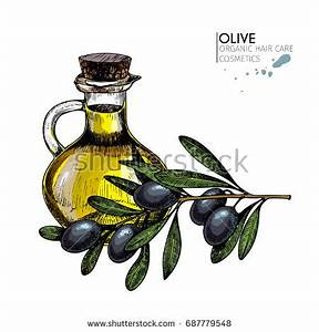 Small Glass Bottle Olive Oil Decorated Stock Photo ...
