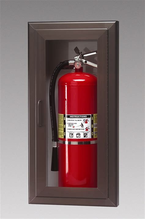 triangle inc extinguisher cabinets larsen s model 2409 6r architectural semi