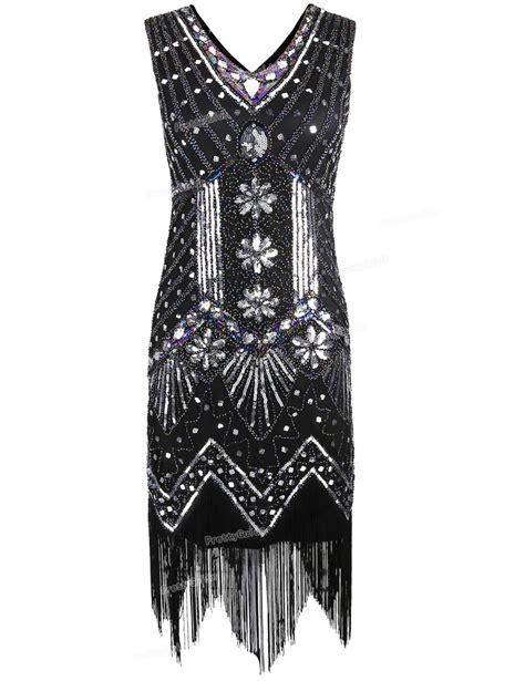 prettyguide 1920s v neck beaded sequin deco gatsby inspired flapper dress great gatsby