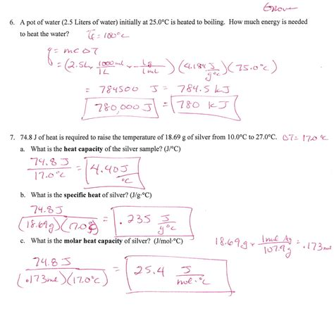 Heat Of Fusion Worksheet Worksheets For All  Download And Share Worksheets  Free On