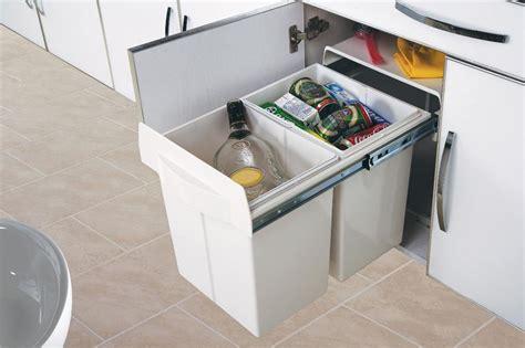 poubelle de cuisine encastrable 2x20 litres cacpo006 cuisissimo