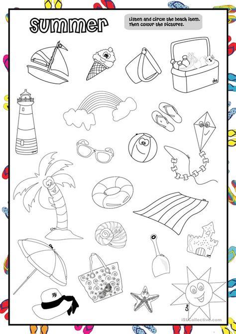 Summer Worksheet (preschool) Worksheet  Free Esl Printable Worksheets Made By Teachers