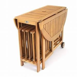 Tisch Mit Rädern : bistro set balkontisch mit r dern klappst hle f r 4 personen praktisch holz ebay ~ Markanthonyermac.com Haus und Dekorationen