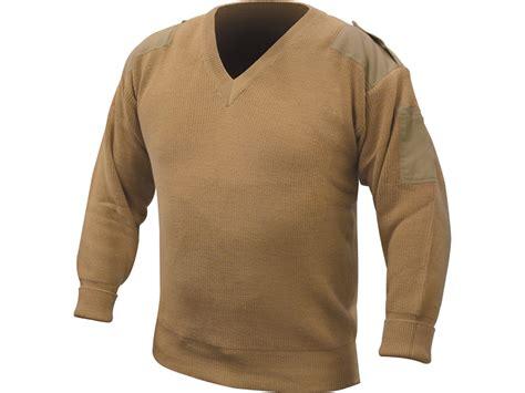 Military Surplus Dutch Commando Sweater V-neck Grade 1 Tan Large