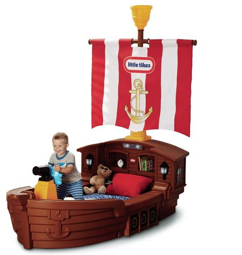 tikes pirate ship toddler bed kidsdimension