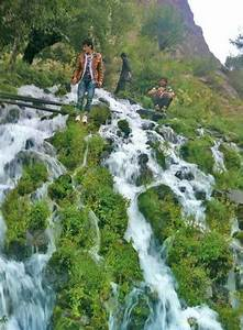 Waterfall in meragram chitral Valley KPK PAKISTAN ...