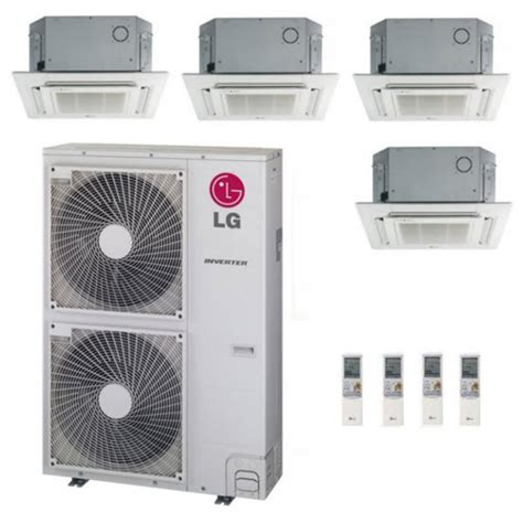 lg 54k btu multi f zone ceiling cassette ductless mini split heat syst