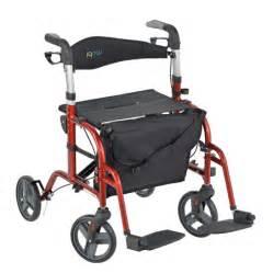 juvo mobi rollator transport chair cherry walgreens