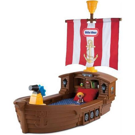 tikes pirate ship toddler bed walmart