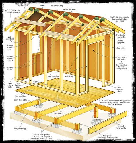 gor free storage shed plans 8 x 6