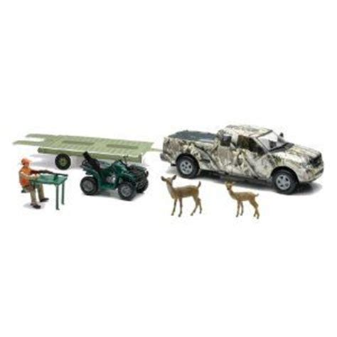 Toy Boat And Trailer Set by Toy Trucks Trailer 4 Wheeler Pick Up Truck W Atv